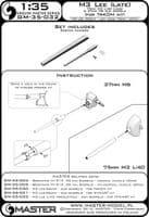 Master 1/35 M3 Lee (Late Production) - 75mm M3 L/40 (Long) & 37mm M6 Gun Barrels # GM35-032